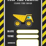 Free Printable Construction Invitation Templates | Elias & Charbel   Free Printable Construction Invitations