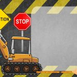 Free Printable Construction Vehicles Birthday Invitation | Free   Free Printable Construction Invitations