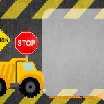 Free Printable Construction Vehicles Birthday Invitation | Party   Free Printable Construction Invitations