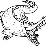 Free Printable Crocodile Coloring Pages For Kids | Pirate Theme   Free Printable Pictures Of Crocodiles