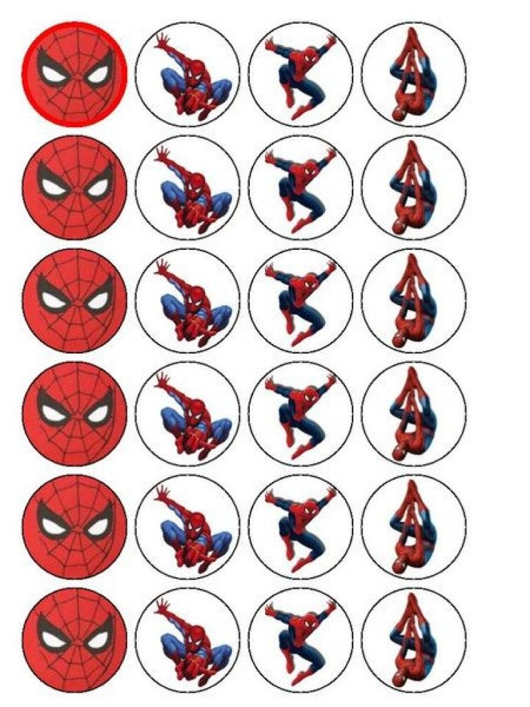 Free Printable Cupcake Wrappers And Toppers With Spiderman - Free Spiderman Printables