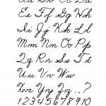 Free Printable Cursive Alphabet Letters | Design: Lettering   Free Printable Cursive Alphabet