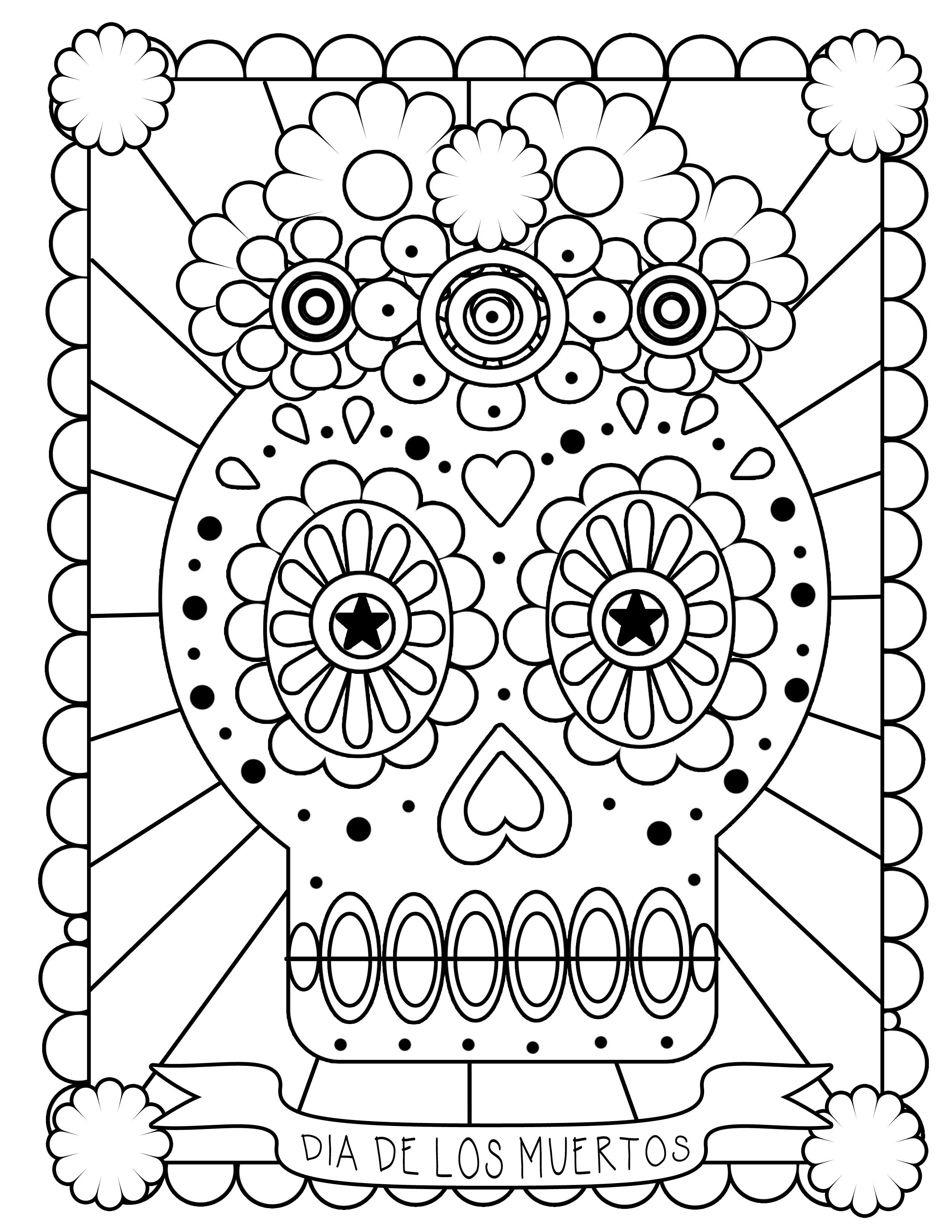 Free Printable Day Of The Dead Coloring Pages - Best Coloring Pages - Free Printable Day Of The Dead Coloring Pages