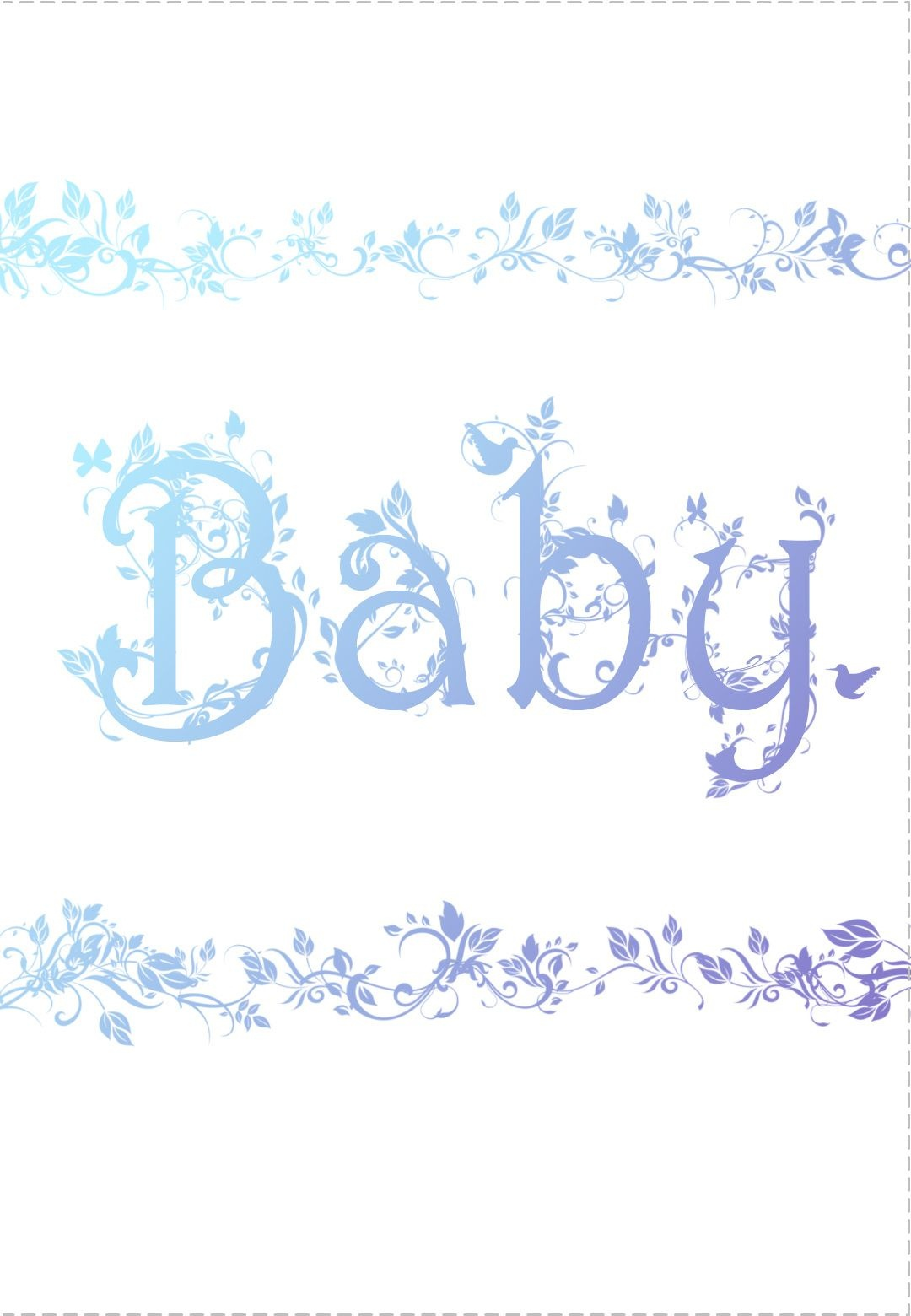 Free Printable Decorated Baby Card Greeting Card   Baby Shower Ideas - Free Printable Baby Cards