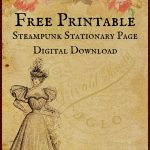 Free Printable Digital Download Stationary Page   Free Printable Vintage Stationary