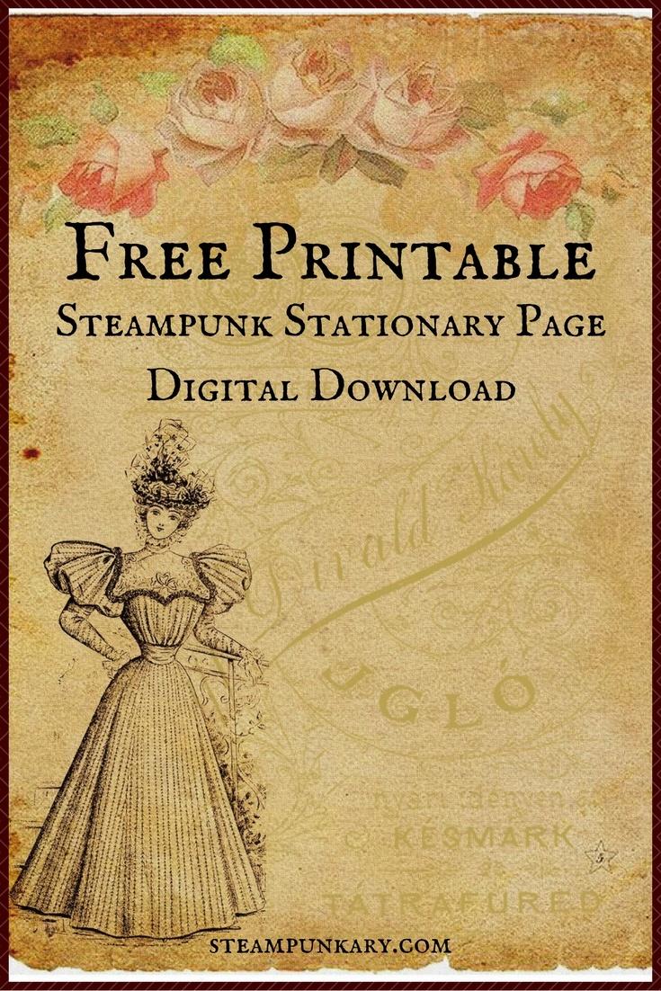 Free Printable Digital Download Stationary Page - Free Printable Vintage Stationary