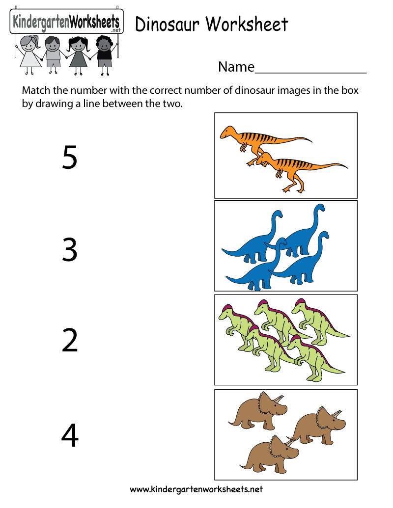Free Printable Dinosaur Worksheet For Kindergarten - Free Printable Dinosaur Activities For Kindergarten