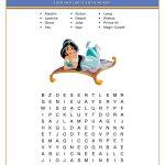 Free Printable Disney Aladdin Activity Sheets | Jasmine/aladdin   Free Printable Disney Stories