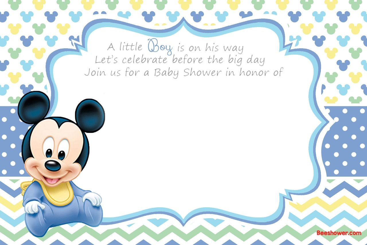 Free Printable Disney Baby Shower Invitations | Baby Shower | Free - Baby Shower Invitations Free Printable For A Boy