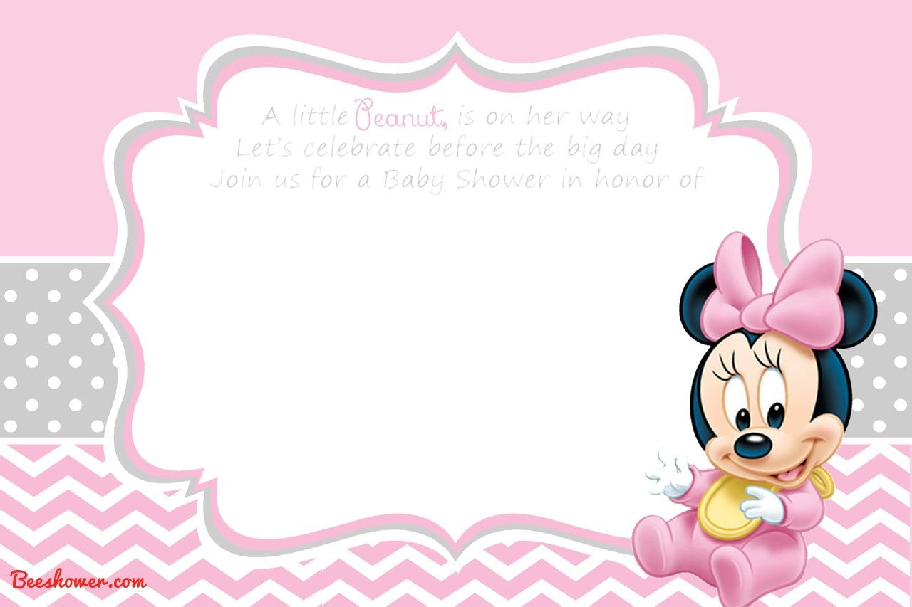 Free Printable Disney Baby Shower Invitations   Baby Shower   Free - Free Printable Baby Mickey Mouse Birthday Invitations