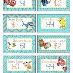 Free Printable Disney Finding Nemo Chore Bucks | All About The   Free Printable Chore Bucks