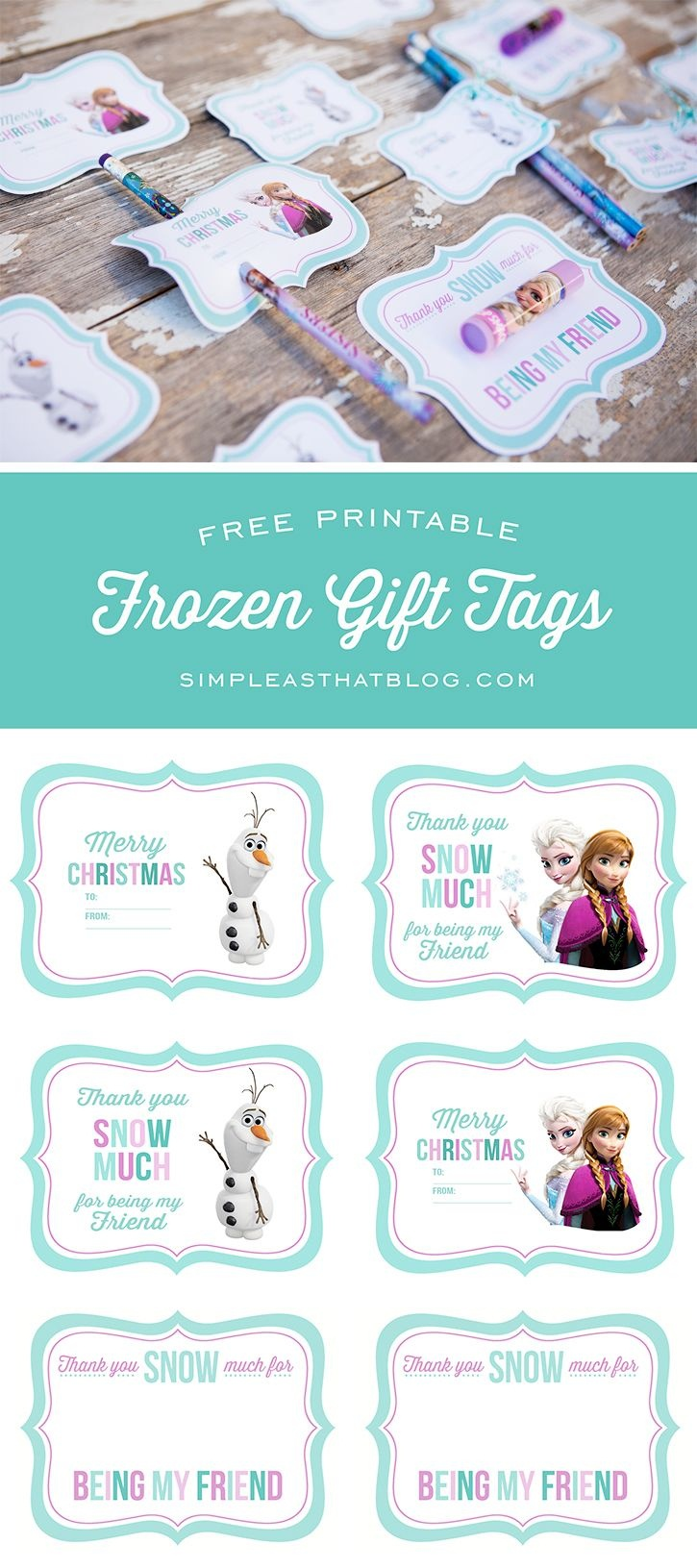 Free Printable Disney Frozen Gift Tags | Simple As That Printables - Birthday Party Favor Tags Printable Free