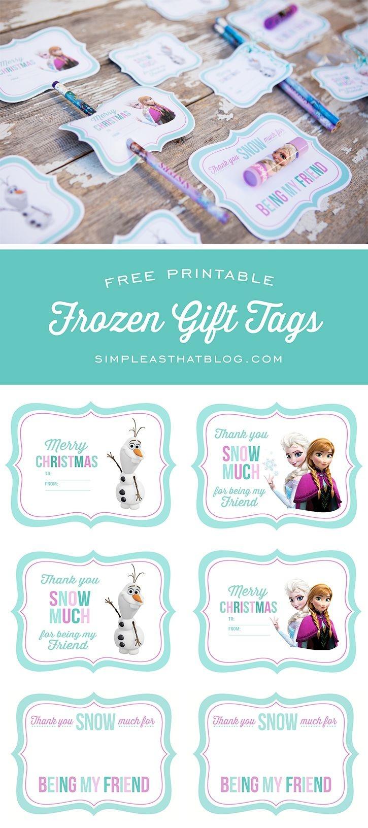 Free Printable Disney Frozen Gift Tags   Simple As That Printables - Party Favor Tags Free Printable
