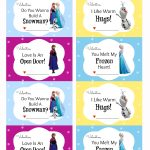 Free Printable Disney Frozen Valentine's Day Cards   Thesuburbanmom   Free Printable Valentines Day Cards For My Daughter