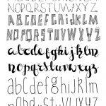 Free Printable Disney Letter Stencils | Lettering | Bullet Journal   Free Printable Disney Font Stencils