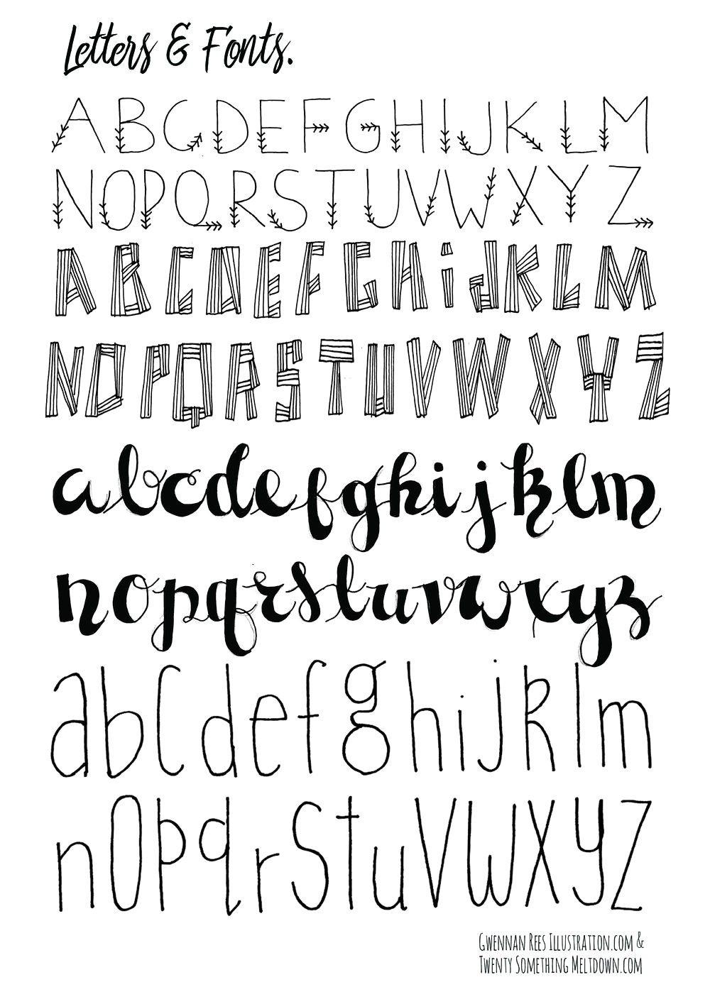 Free Printable Disney Letter Stencils | Lettering | Bullet Journal - Free Printable Disney Font Stencils