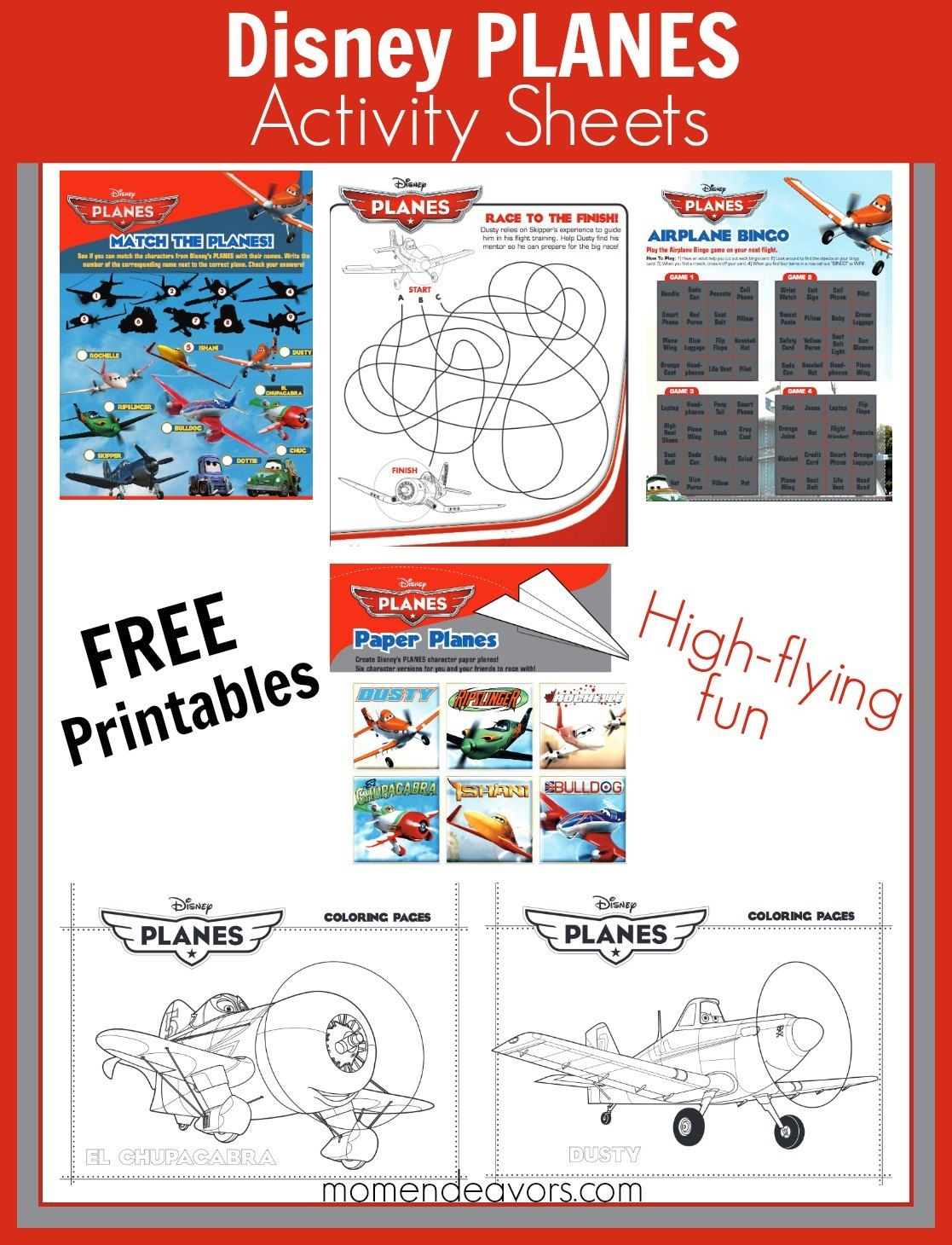 Free Printable Disney Planes Activity Sheets And Coloring Pages - Free Planes Printables