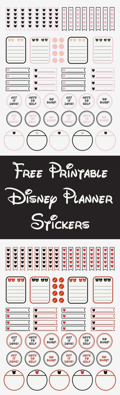 Free Printable Disney Planner Stickers | Craft | Free Printables - Free Printable Disney Address Labels