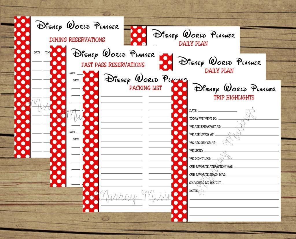Free Printable Disney World Vacation Planner #freeprintable | Disney - Free Disney Planning Binder Printables