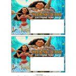 Free Printable Disney's Moana Birthday Party Decorations #moana   Free Printable Moana Birthday Cards