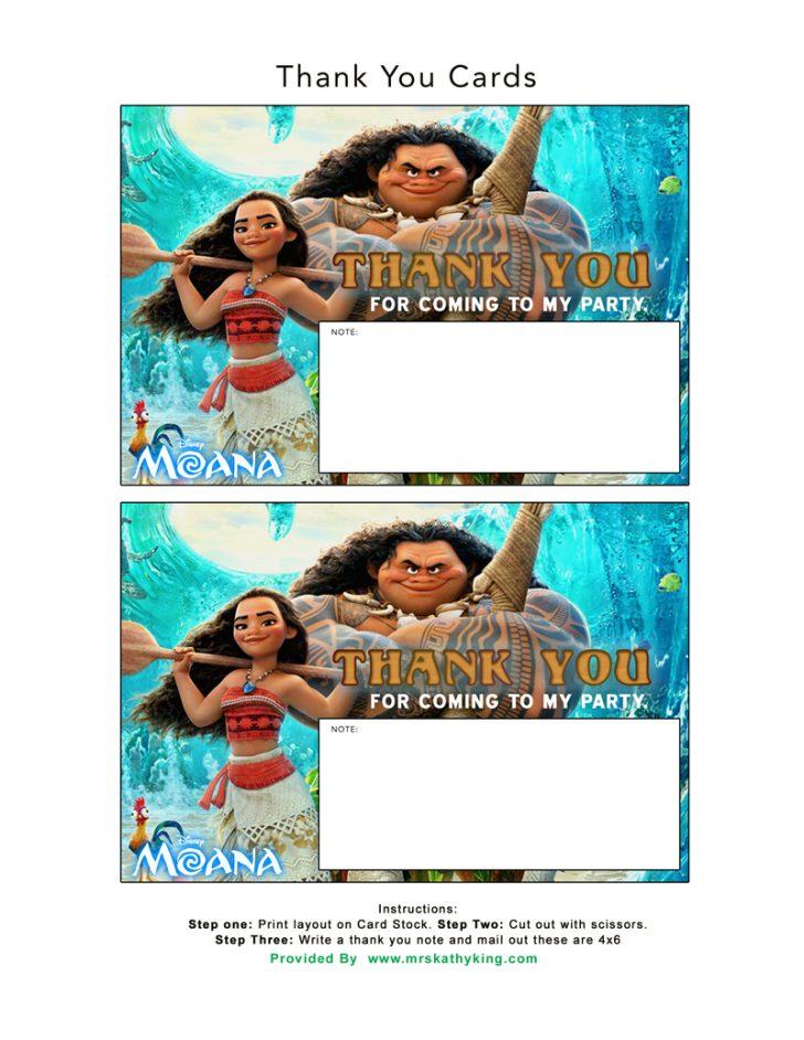 Free Printable Moana Birthday Cards
