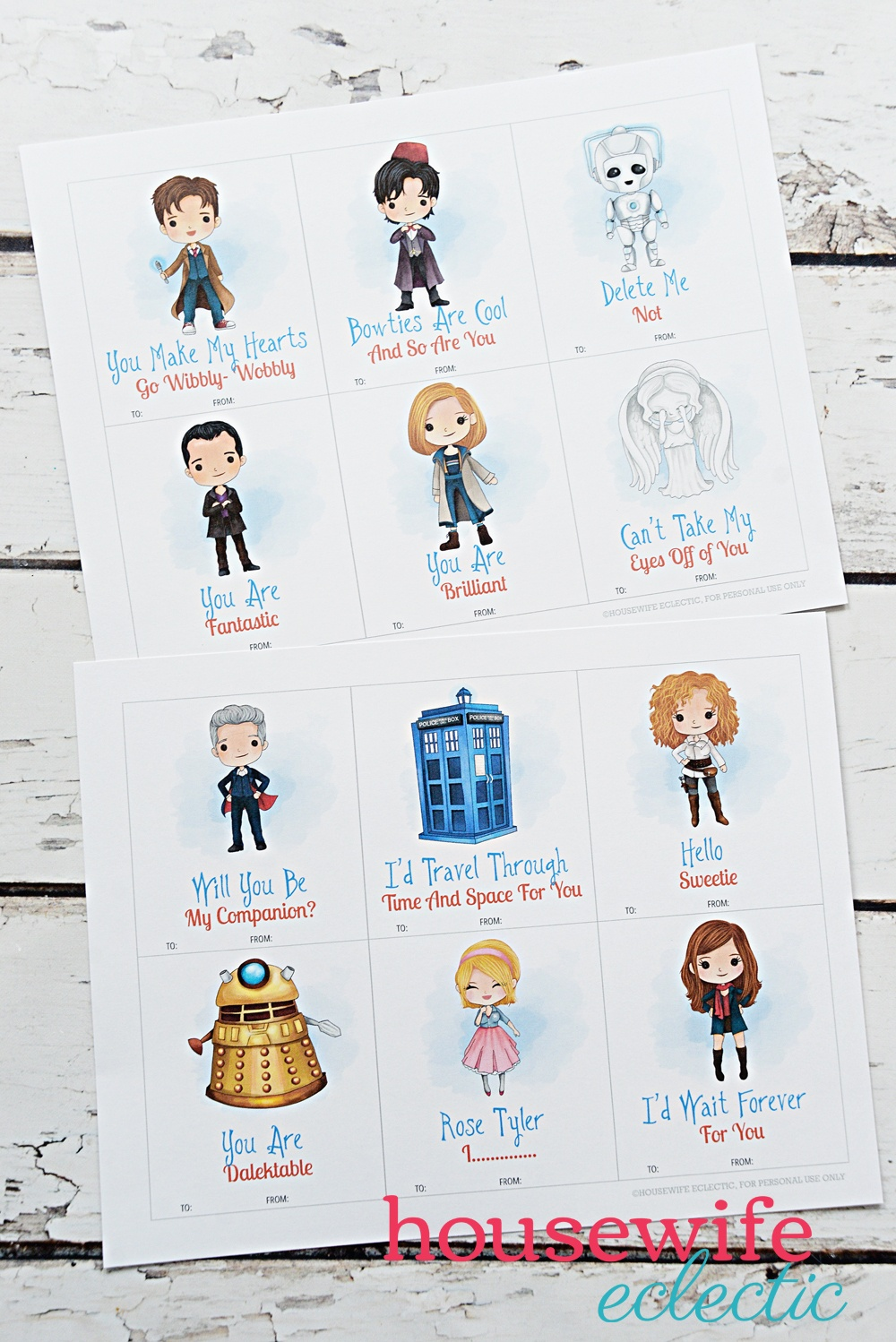 Free Printable Doctor Who Valentines - Housewife Eclectic - Free Printable Doctor Who Valentines