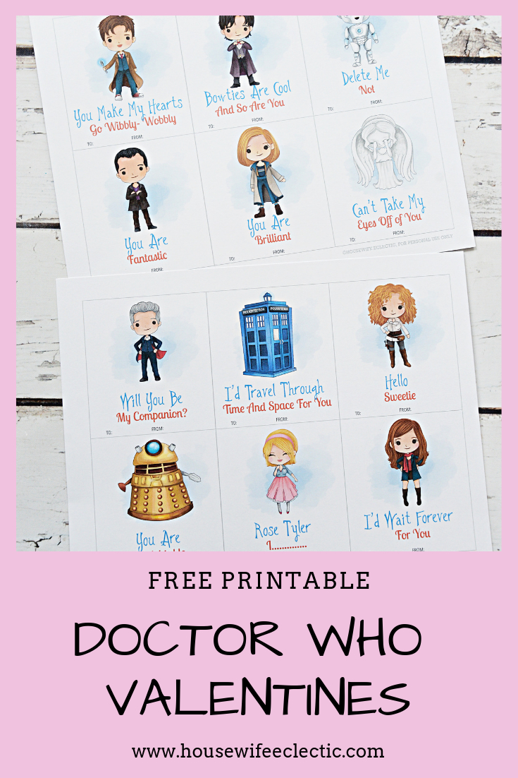 Free Printable Doctor Who Valentines | Valentine's | Doctor Who - Free Printable Doctor Who Valentines