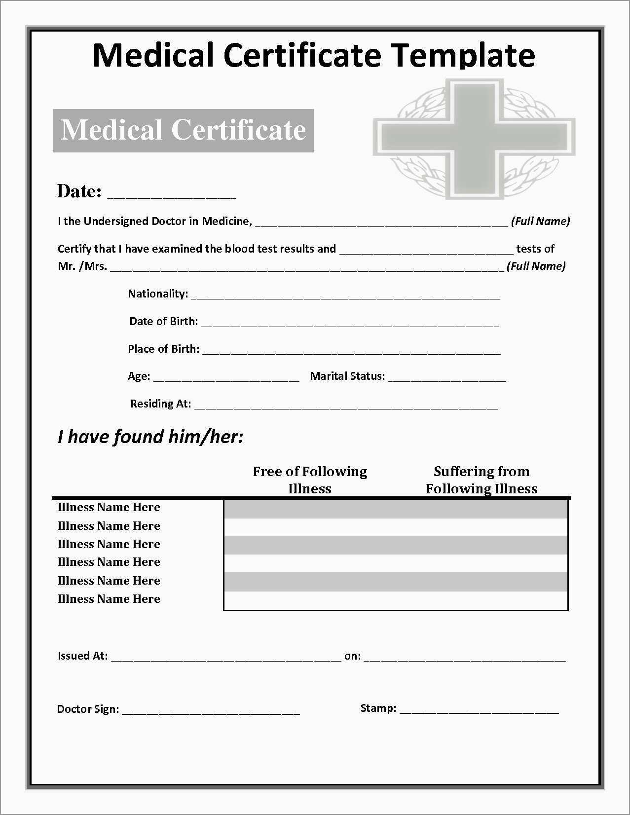 Free Printable Doctors Notes Templates Best Free Printable Doctors - Free Printable Doctors Note