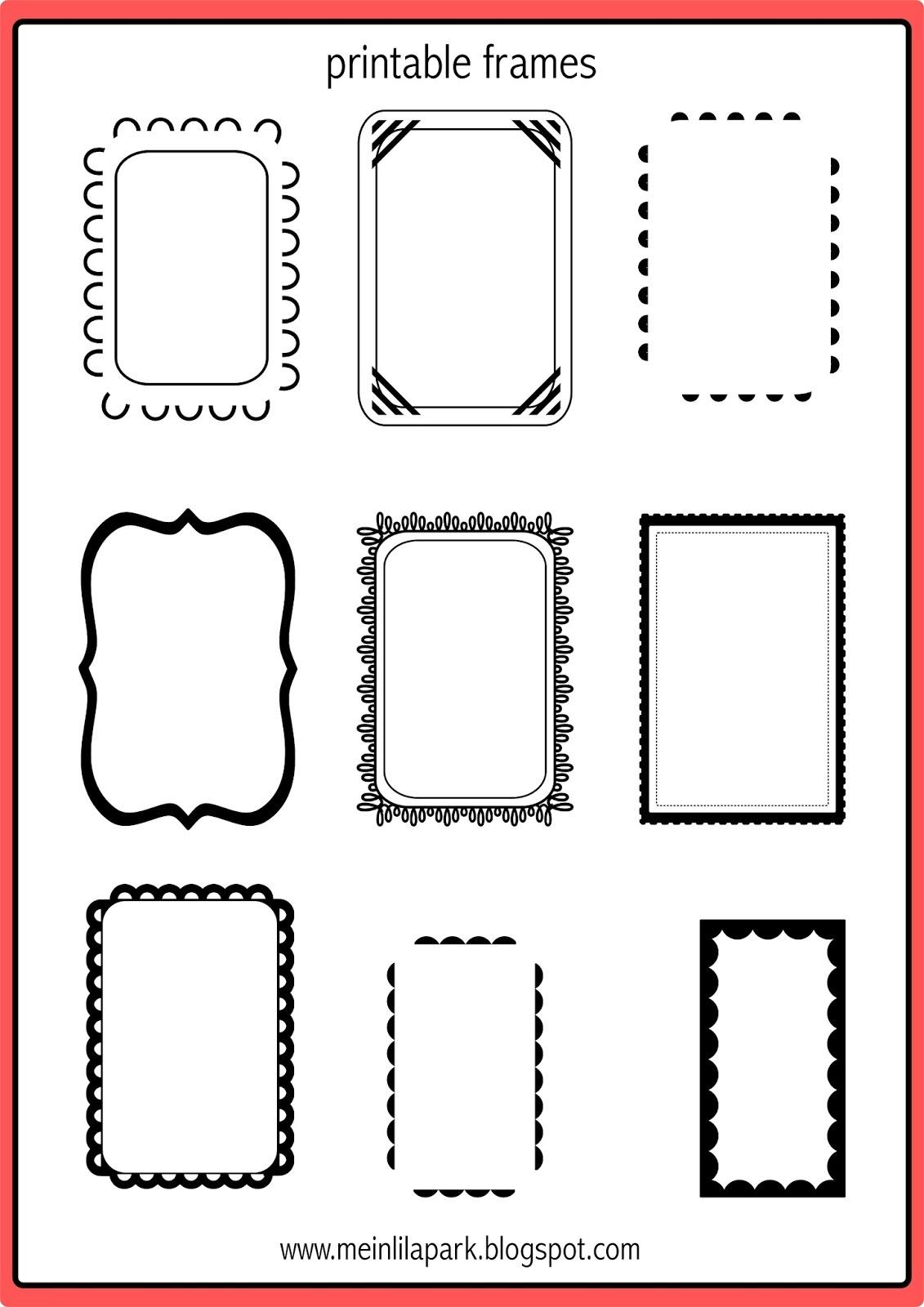 Free Printable Doodle Frames - Bullet Journal Template - Freebie - Free Printable Photo Frames
