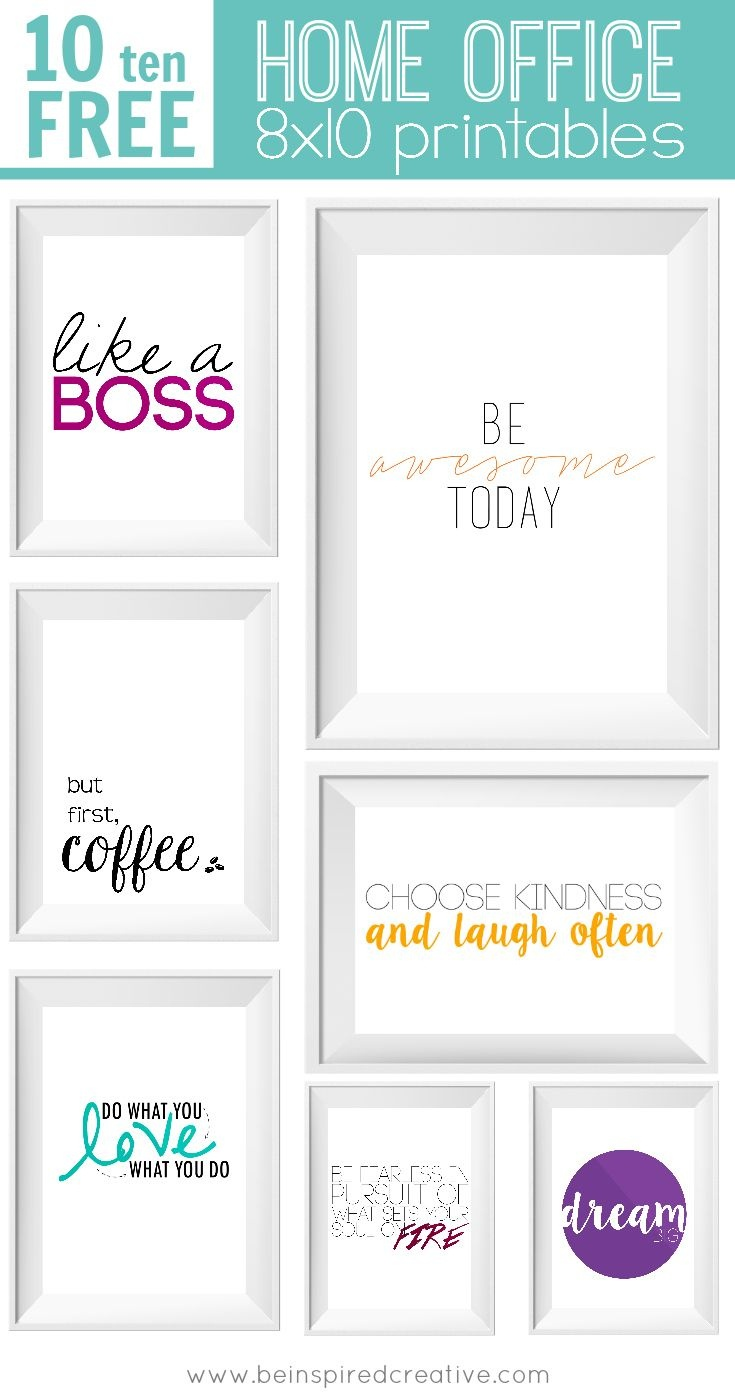 Free Printable Download: 10 Home Office Prints | Vitamix | Office - Free Printable Quotes For Office