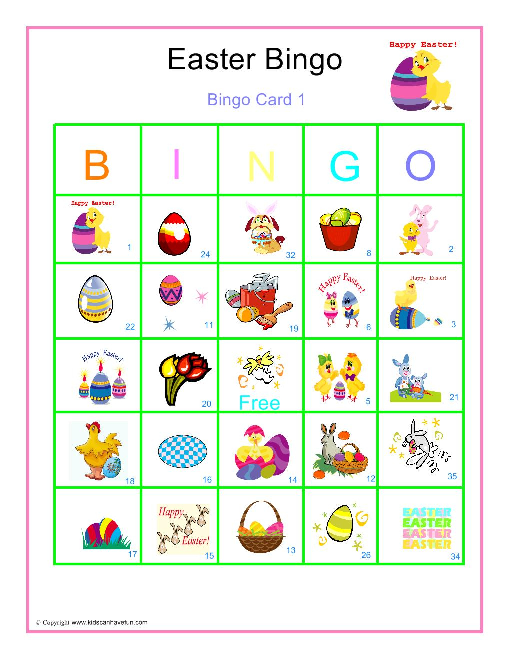 Free Printable Easter Bingo Game – Hd Easter Images - Free Printable Religious Easter Bingo Cards