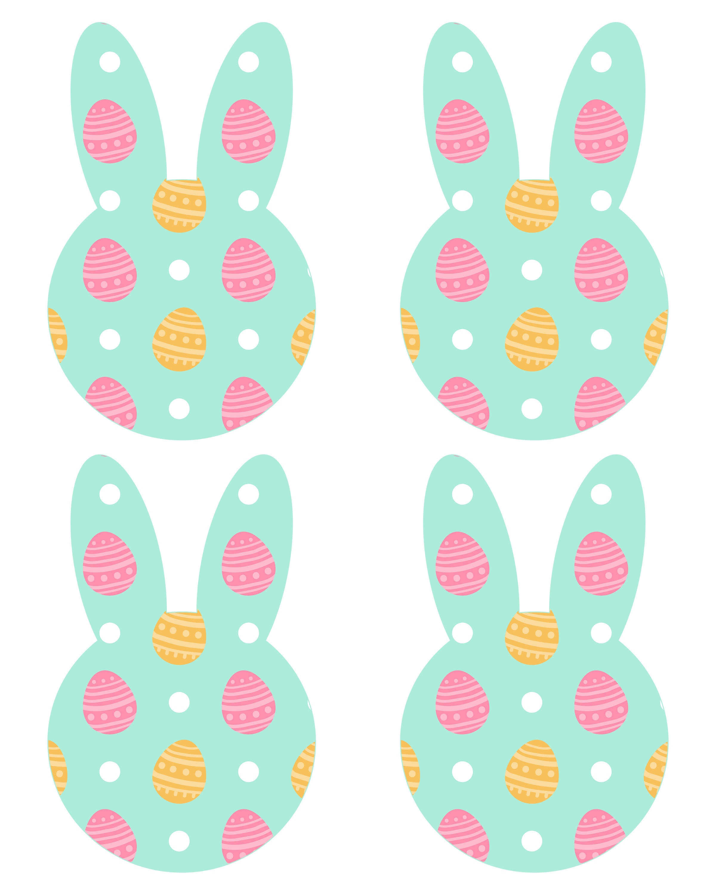Free Printable Easter Bunny Banner - The Cottage Market - Free Printable Easter Decorations