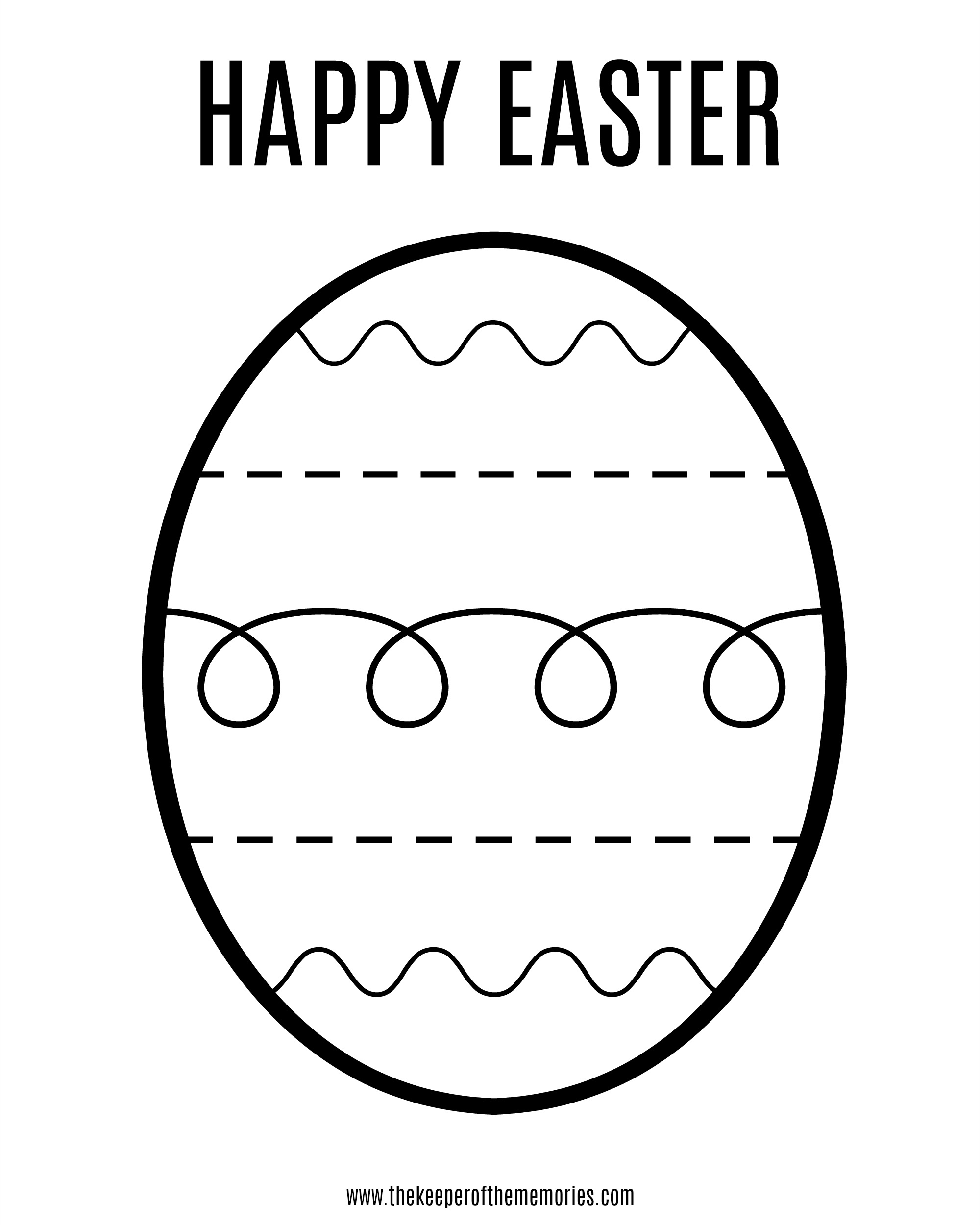 Free Printable Easter Coloring Sheet For Little Kids - The Keeper Of - Easter Egg Coloring Pages Free Printable