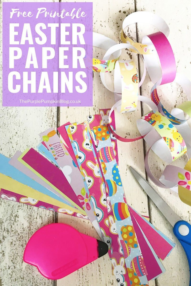 Free Printable Easter Decorations: Paper Chains | Spring Holidays - Free Printable Easter Decorations
