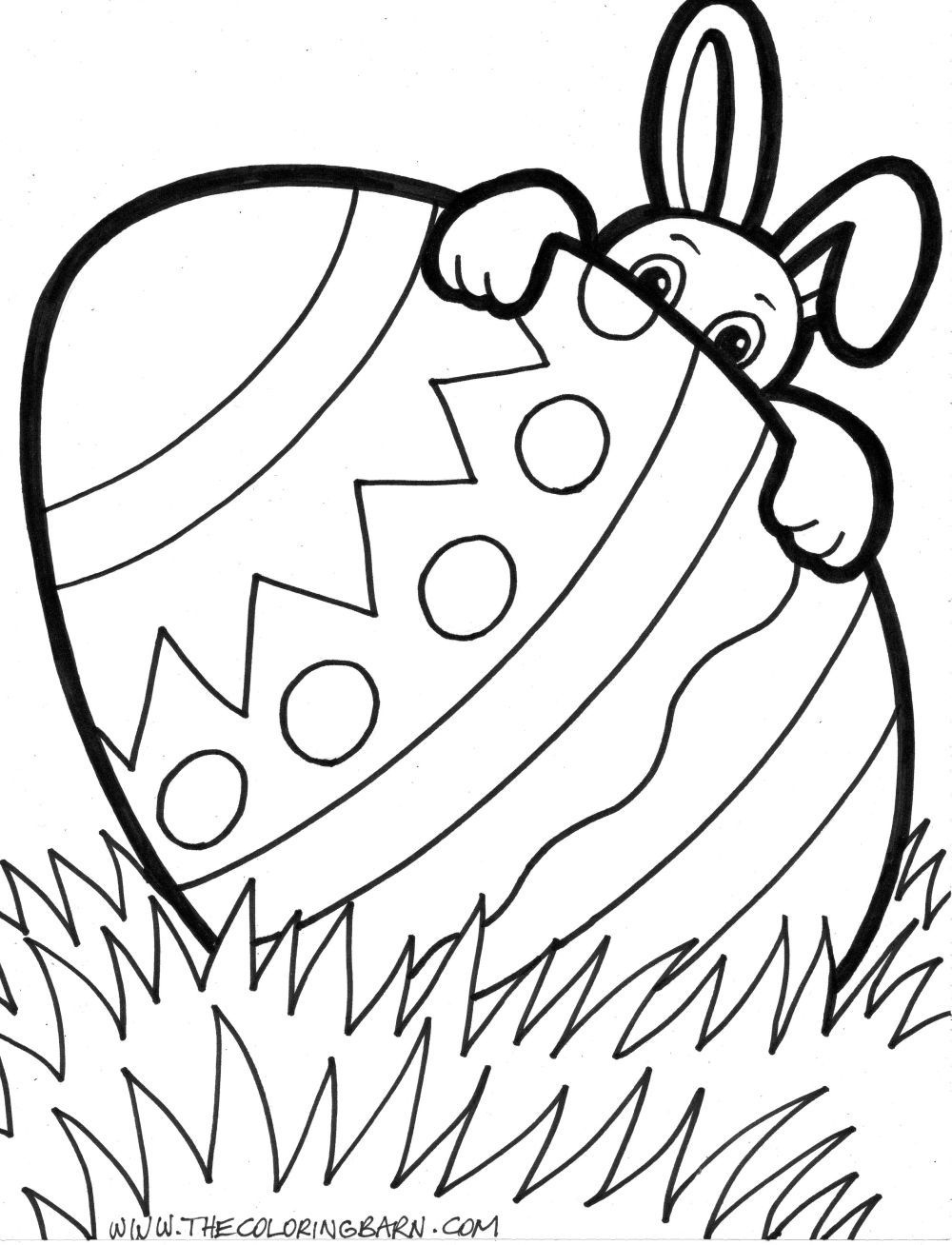 Free Printable Easter Egg Coloring Pages 04 | Easter | Easter Egg - Free Printable Easter Pages