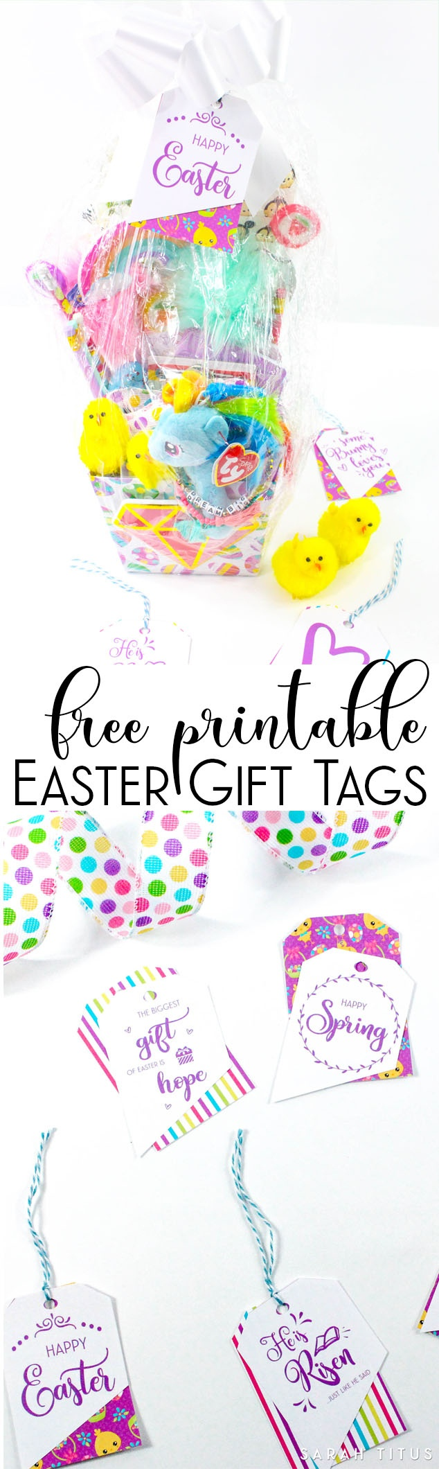 Free Printable Easter Gift Tags - Sarah Titus - Free Easter Place Cards Printable