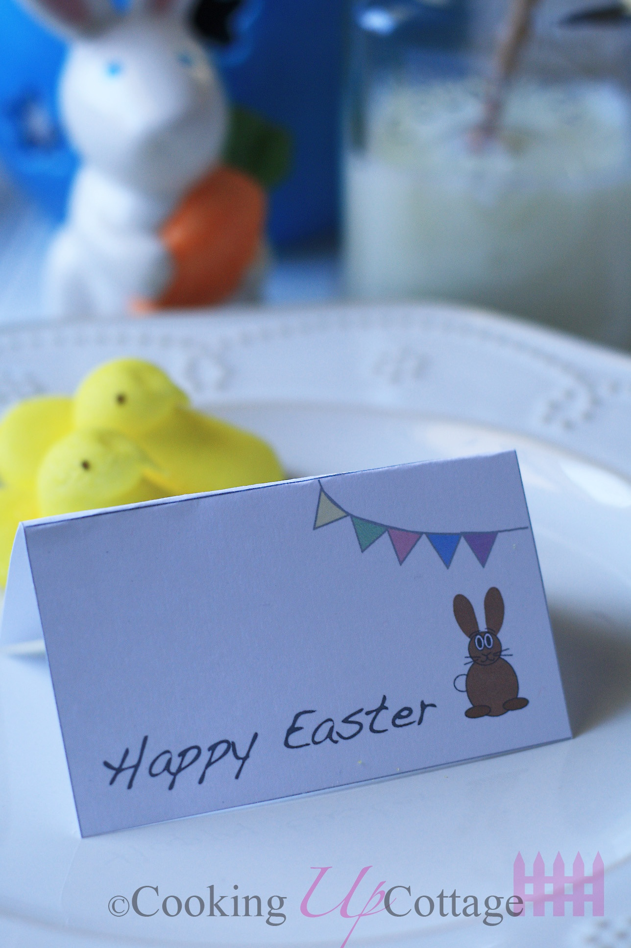 Free Printable Easter Place Cards – Cooking Up Cottage - Free Easter Place Cards Printable