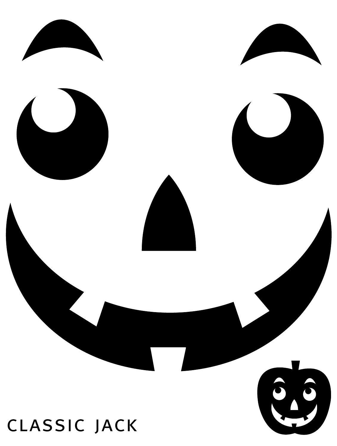 Free Printable Easy Funny Jack O Lantern Face Stencils Patterns - Free Printable Pumpkin Carving Templates