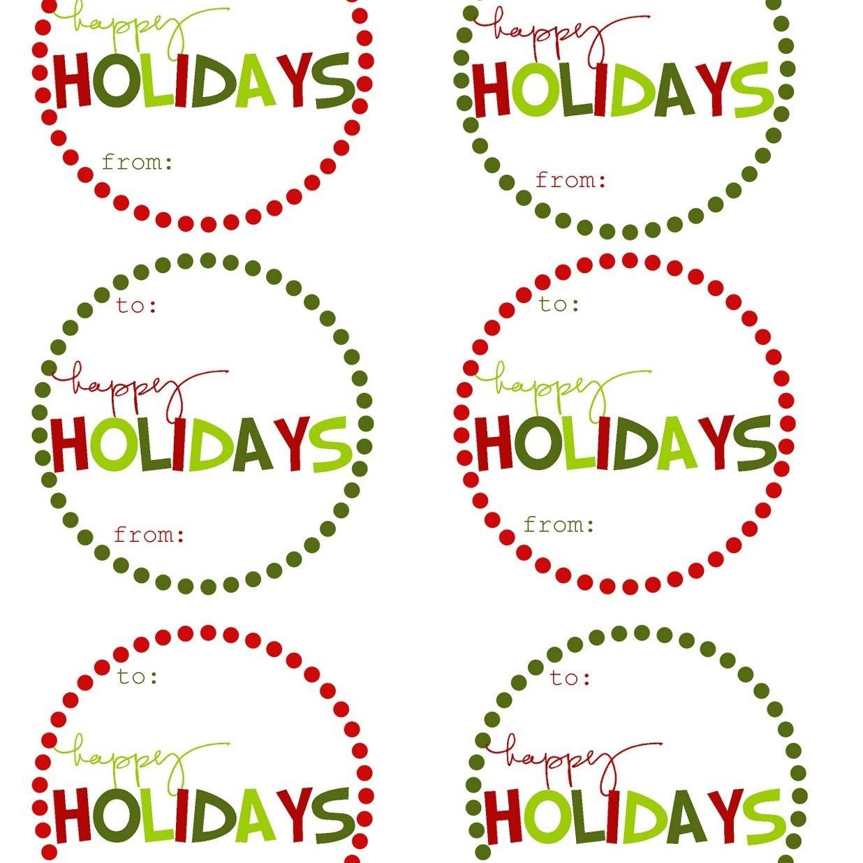 Free Printable Editable Christmas Gift Tags - Demir.iso-Consulting.co - Free Printable Christmas Labels