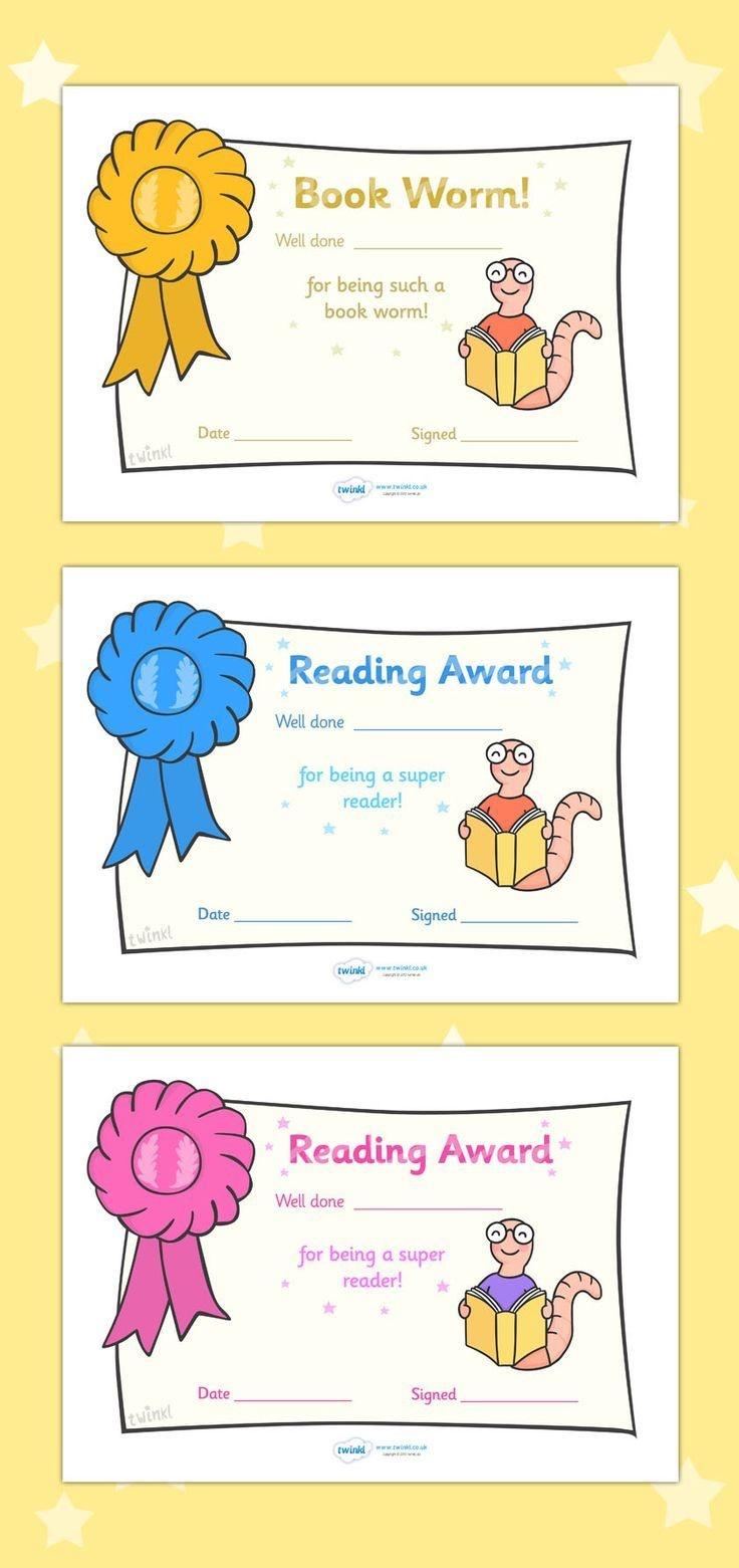Free Printable Editable Reading Award Certificates … | First Grade - Free Printable Best Daughter Certificate