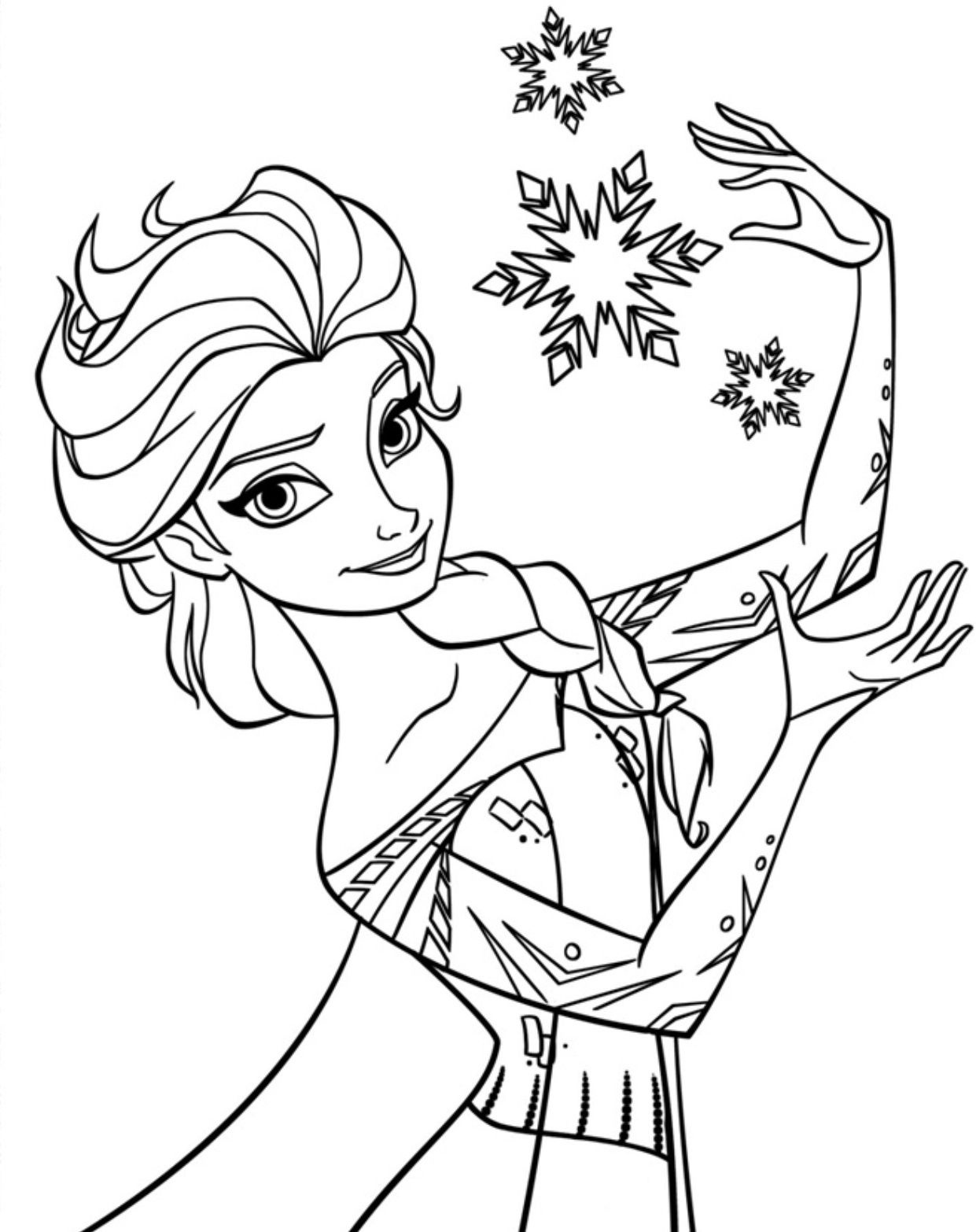 Free Printable Elsa Coloring Pages For Kids | Elsa | Princess - Free Printable Frozen Coloring Pages