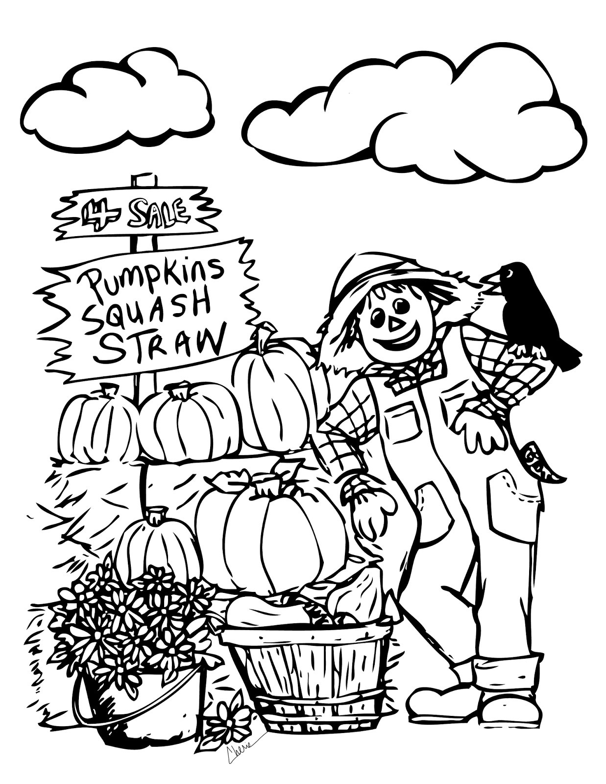 Free Printable Fall Coloring Pages For Kids - Best Coloring Pages - Free Printable Fall Harvest Coloring Pages