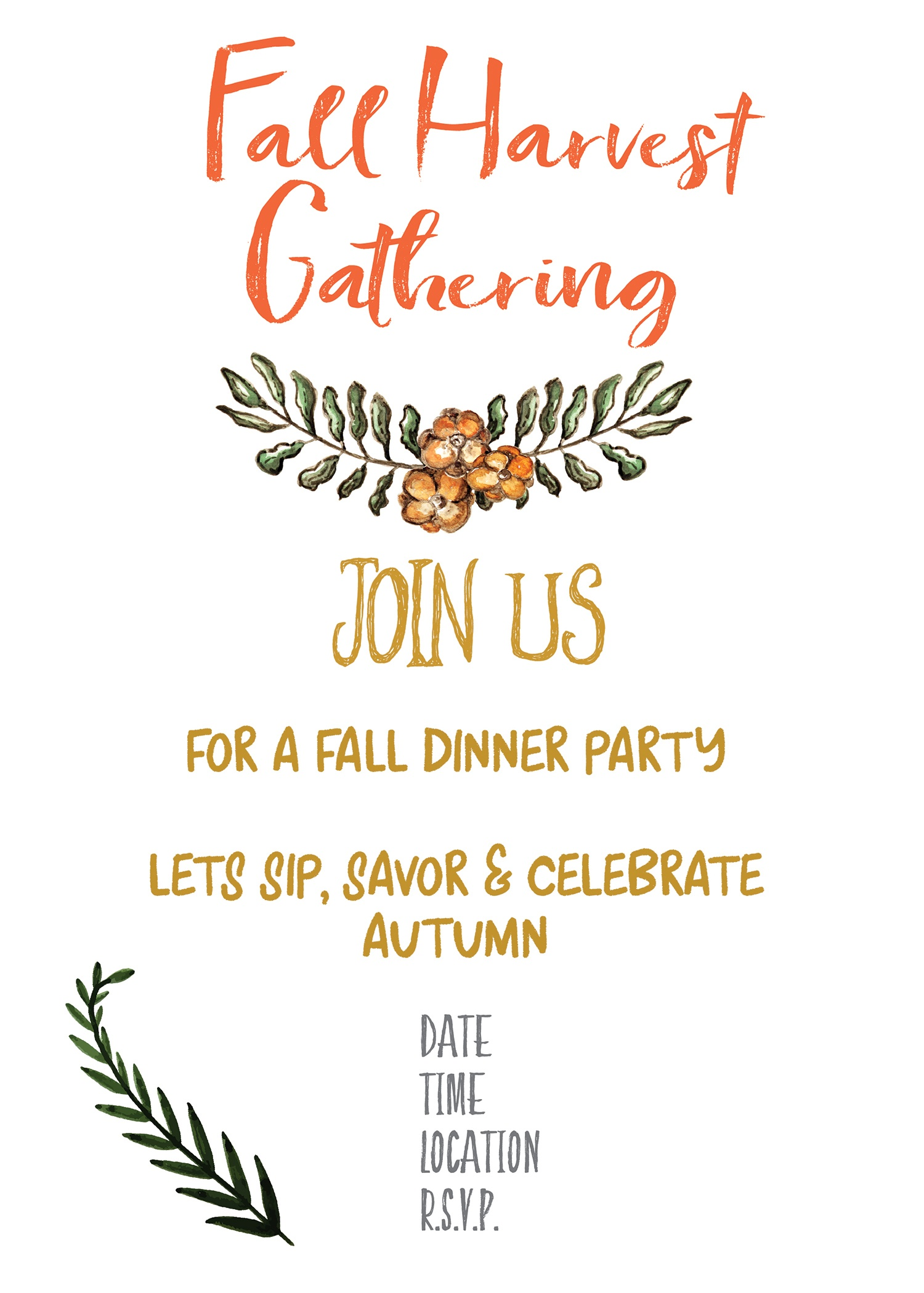 Free Printable Fall Party Invitations - Demir.iso-Consulting.co - Free Printable Fall Festival Invitations