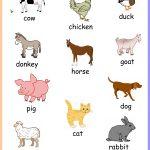 Free Printable Farm Animals Chart Keywords:toddler,preschool,kids   Free Printable Farm Animal Flash Cards