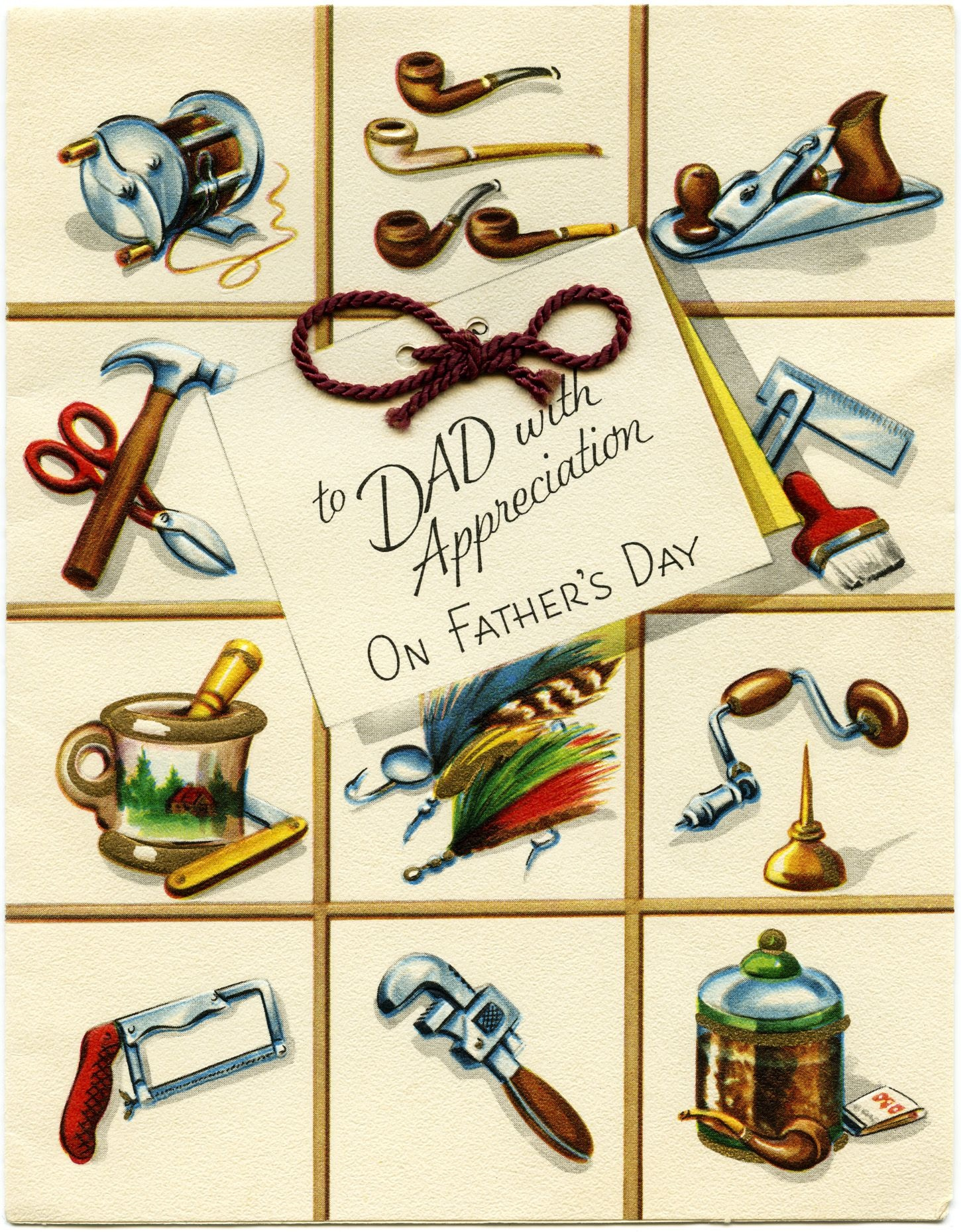 Free Printable Fathers Day Cards | Vintage Fathers Day Greeting Card - Hallmark Free Printable Fathers Day Cards