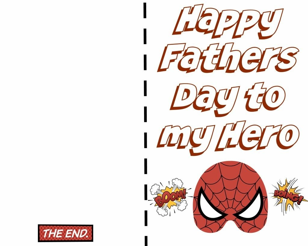Free Printable Fathers Day Super Hero Cards. Just Print Out And Let - Free Happy Fathers Day Cards Printable