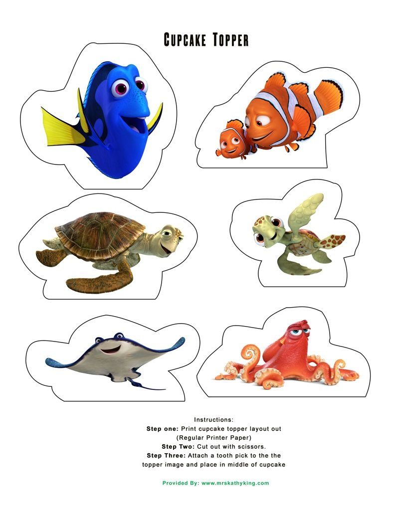 Free Printable Finding Dory Birthday Party Decorations #findingdory - Free Nemo Printables