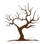 Free Printable Fingerprint Tree Template | Embroidery | Wedding   Free Printable Tree Template