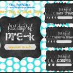 Free Printable} First Day Of School Chalkboard Sign • The Pinning Mama   First Day Of Kindergarten Sign Free Printable