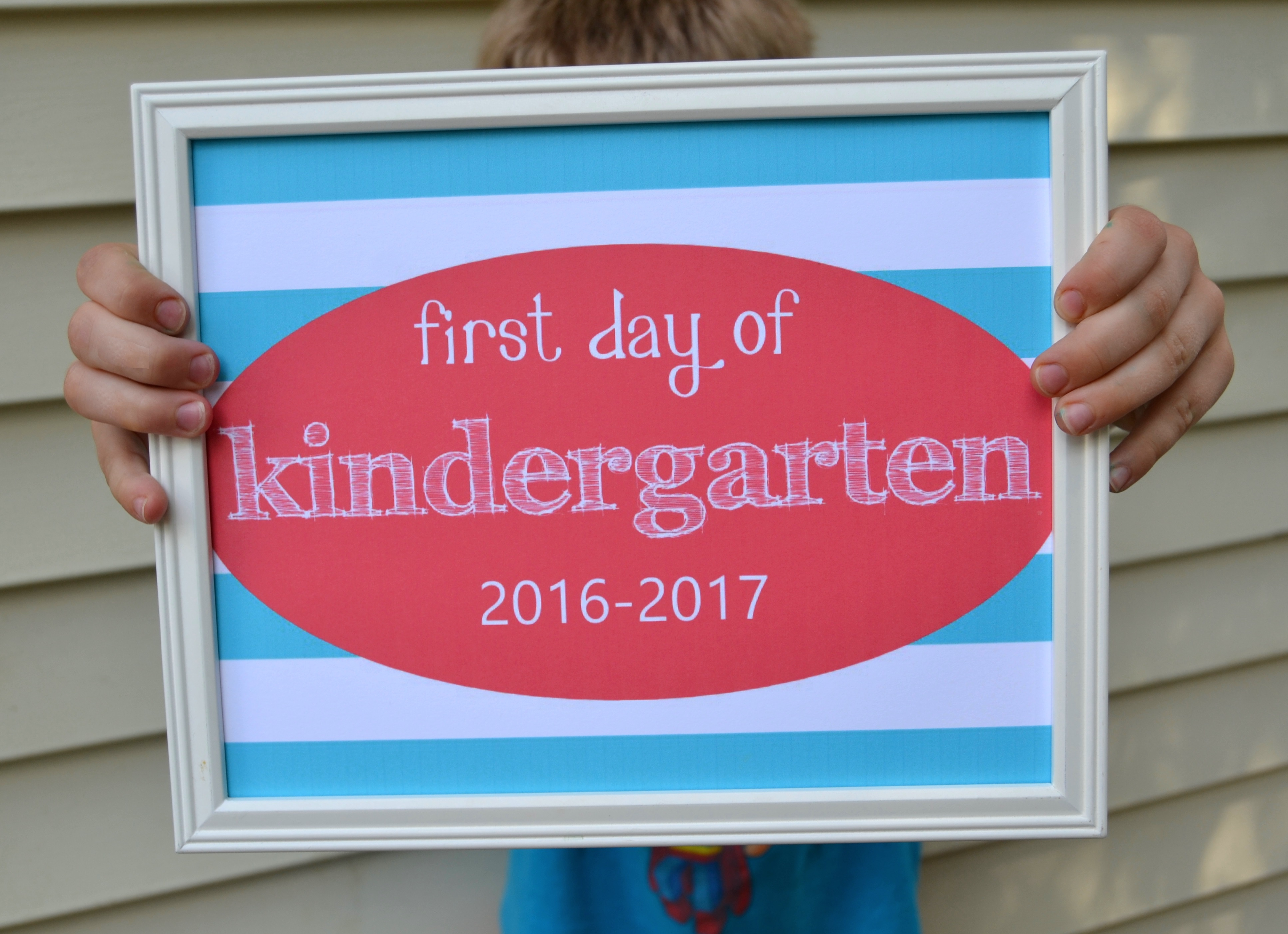 Free Printable First Day Of School Signs Archives – Mary Martha Mama - Free Printable Back To School Signs 2017